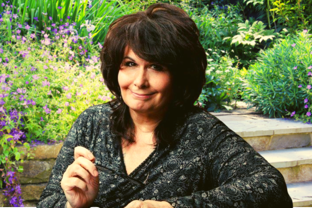 Relationships Mentor, Jeanne Fritch, sitting in a garden